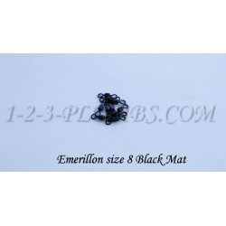 Emerillons Size 8  Noir Mat